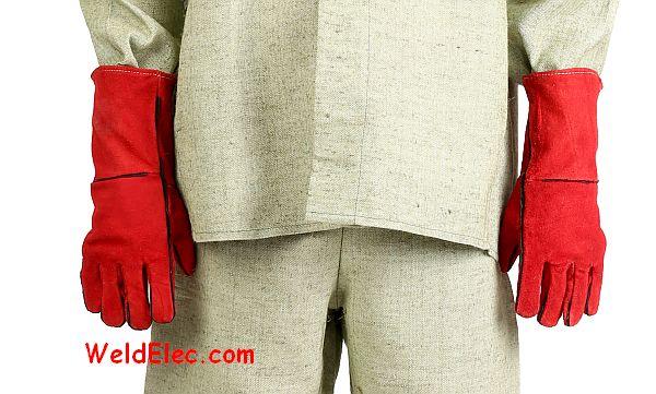 специальные перчатки сварщика